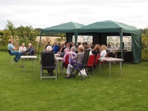 Great Barrow Horticultural Society visit Fieldcrest and listen to a talk from garden owner Chris Davies